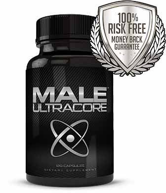 Bottle of MaleUltra Core Supplements